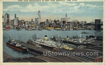 Skyscrapers - Brooklyn, New York NY Postcard