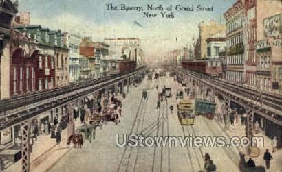 The Bowery - New York City Postcards, New York NY Postcard