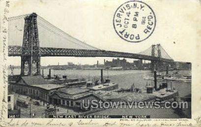 New East River Bridge - New York City Postcards, New York NY Postcard