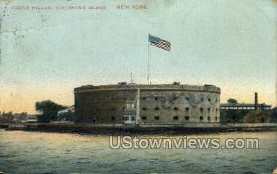 Castle William - New York City Postcards, New York NY Postcard