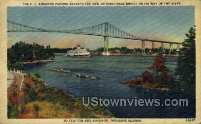 International Bridge - New York City Postcards, New York NY Postcard
