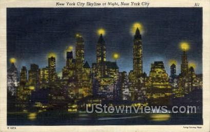 Sky Line - New York City Postcards, New York NY Postcard