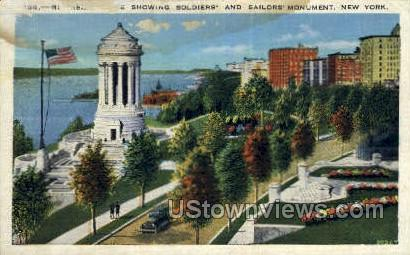 Soldiers & Sailors Monument - New York City Postcards, New York NY Postcard
