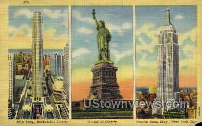 Rockefeller Center - New York City Postcards, New York NY Postcard