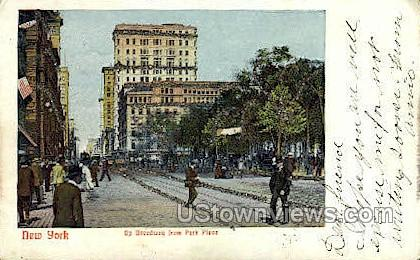 Park Place - New York City Postcards, New York NY Postcard