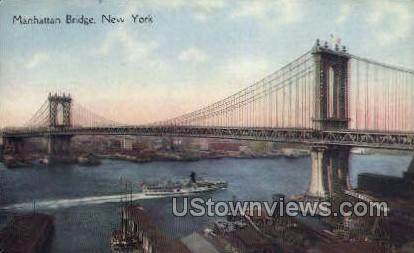 Manhattan Bridge - New York City Postcards, New York NY Postcard
