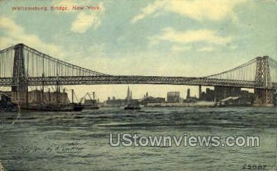 Williamsburg Bridge - New York City Postcards, New York NY Postcard