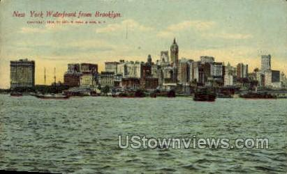 Waterfront - Brooklyn, New York NY Postcard