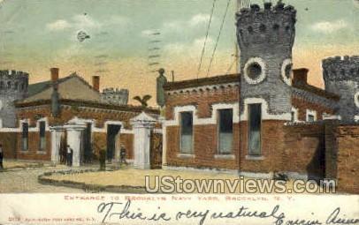 Brooklyn Navy Yard - New York NY Postcard