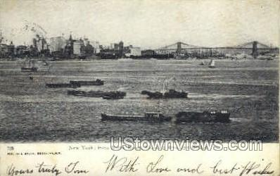 North River - Brooklyn, New York NY Postcard