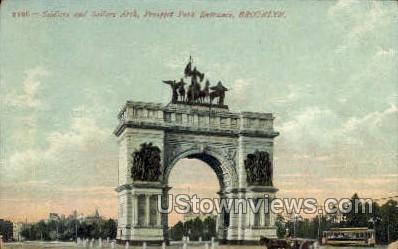 Prospect Park Entrance - Brooklyn, New York NY Postcard