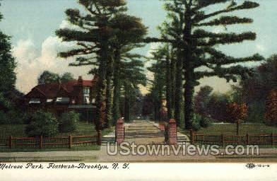 Melrose Park - Brooklyn, New York NY Postcard