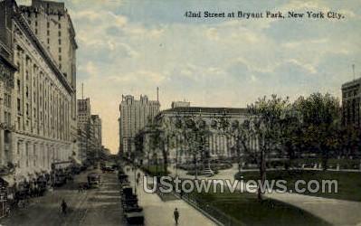 Bryant Park - New York City Postcards, New York NY Postcard