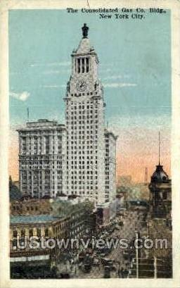 Consolidated Gas Co, - New York City Postcards, New York NY Postcard
