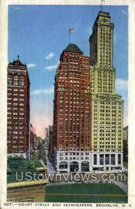 Court Street - Brooklyn, New York NY Postcard
