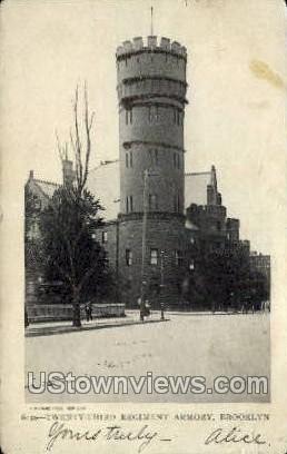 Regiment Armory - Brooklyn, New York NY Postcard