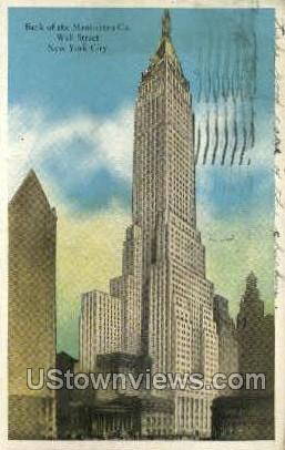 Bank of the Manhattan Co. - New York City Postcards, New York NY Postcard