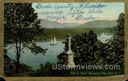 Dade Monument - West Point, New York NY Postcard