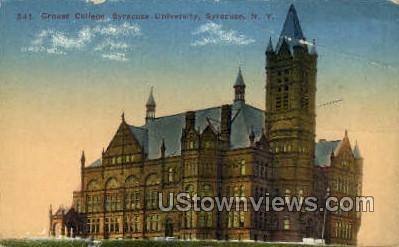 Crouse College, Syracuse University - New York NY Postcard