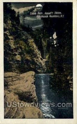 Sable Rock, Ausable Chasm - Adirondack Mts, New York NY Postcard