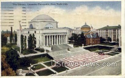 The Library, Columbia University - New York City Postcards, New York NY Postcard