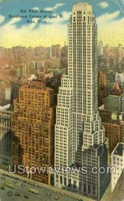 500 Fifth Ave.  - New York City Postcards, New York NY Postcard