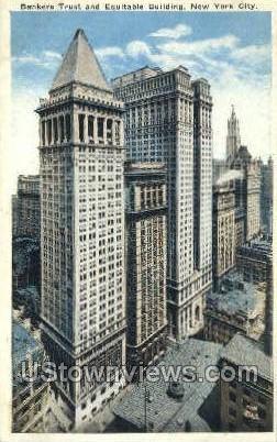 Banker's Trust Co. Bldg - New York City Postcards, New York NY Postcard