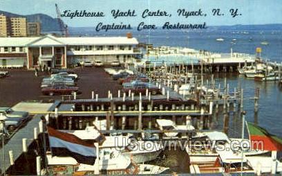 Lighthouse Yacht Center - Nyack, New York NY Postcard