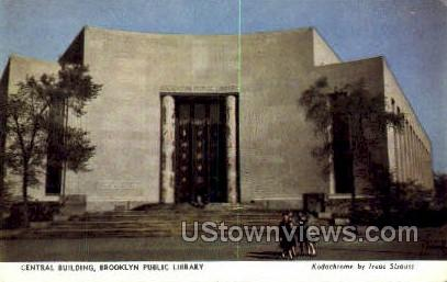 Central Bldg, Brooklyn Public Library - New York NY Postcard