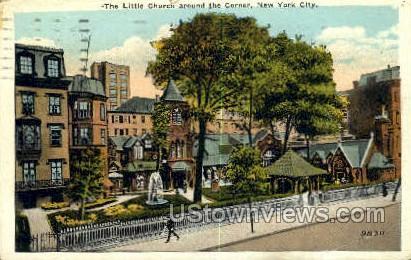 The Little Church Around the Corner - New York City Postcards, New York NY Postcard