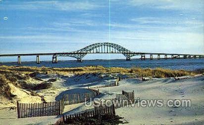 Fire Island Inlet Bridge - Long Island, New York NY Postcard