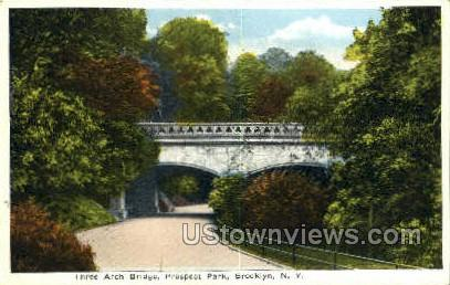 Three Arch Bridge, Prospect Park - Brooklyn, New York NY Postcard