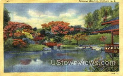 Botanical Gardens - Brooklyn, New York NY Postcard