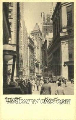 Broad Street, City Canyons - New York City Postcards, New York NY Postcard