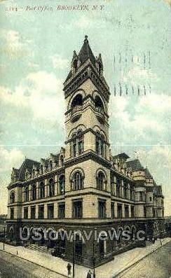 Post Office - Brooklyn, New York NY Postcard