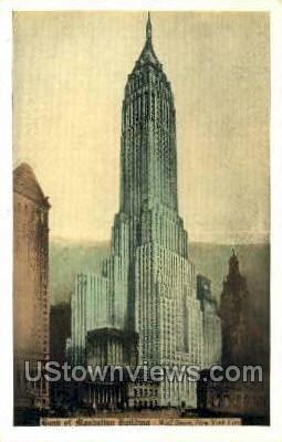 Bank of Manhattan Bldg - New York City Postcards, New York NY Postcard