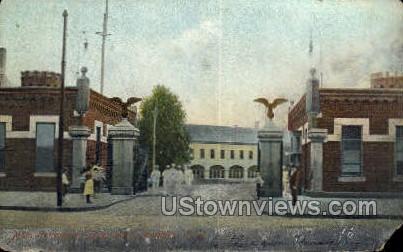 Entrance to Navy Yard - Brooklyn, New York NY Postcard