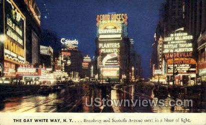 Broadway & Seventh Ave. - New York City Postcards, New York NY Postcard