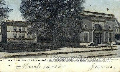 Flatbush Trust Co., Carnegie Library - Brooklyn, New York NY Postcard