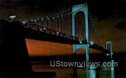 Bronx-Whitestone Bridge - New York NY Postcard
