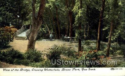 Crossing Watterfalls, Bridge - Bronx Park, New York NY Postcard