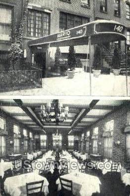 The Original Mario Restaurant - New York City Postcards, New York NY Postcard