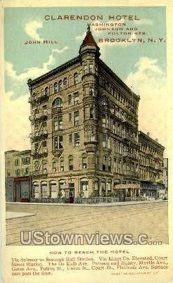 Clarendon Hotel - Brooklyn, New York NY Postcard