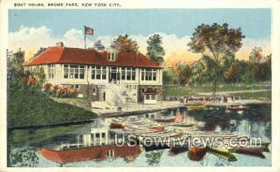 Boat House - Bronx Park, New York NY Postcard