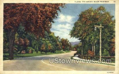 Bronx River Parkway - New York City Postcards, New York NY Postcard