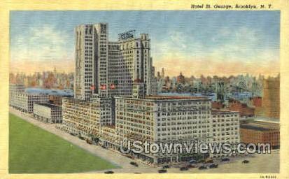 Hotel St. George - Brooklyn, New York NY Postcard