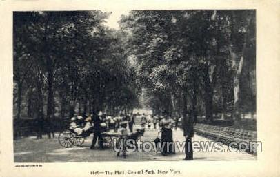 The Mall, Central Park - New York City Postcards, New York NY Postcard