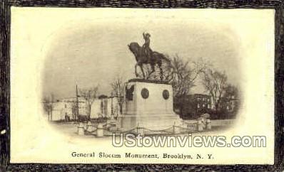General Slocum Monument - Brooklyn, New York NY Postcard