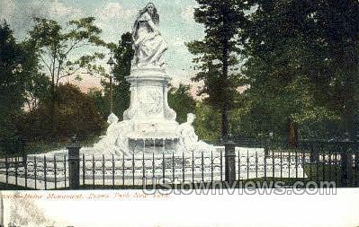Heine Monument - Bronx Park, New York NY Postcard