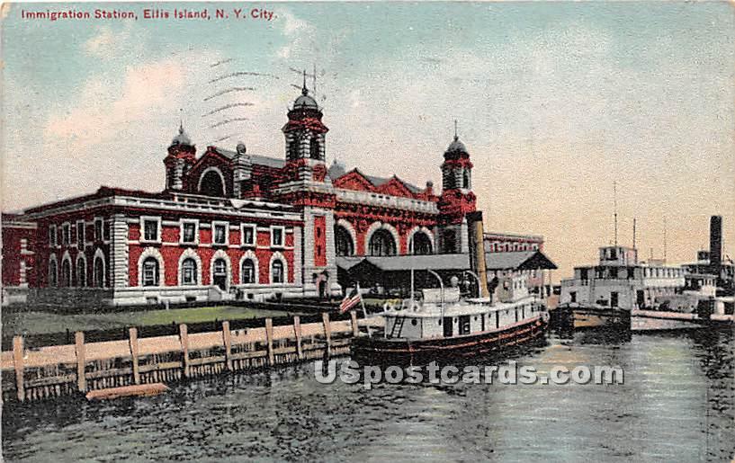 Imm8gration Station, Ellis Island - New York City Postcards, New York NY Postcard